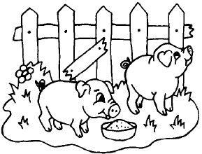 porco para colorir_Pesquisa do Baidu