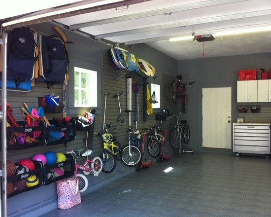 Most Organized garage ever, looks like a sporting goods store...