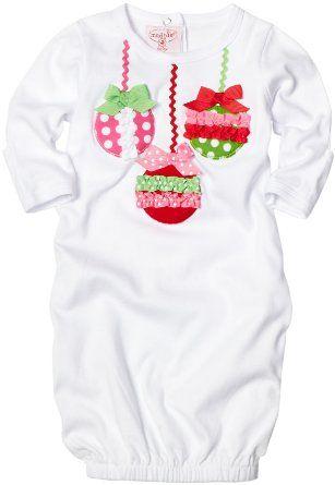Sleeper version Xmas outfit - Mud Pie Baby-girls Newborn Ornament Sleeper: Amazon.com: Clothing