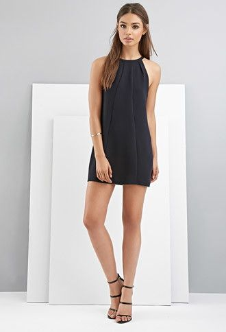 Black and white halter dress forever 21