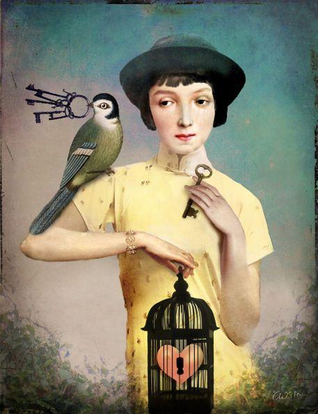 """""""The perfect Key"""" Grafik/Illustration von Catrin Welz-Stein jetzt als Poster, Kunstdruck oder Grußkarte kaufen.."""