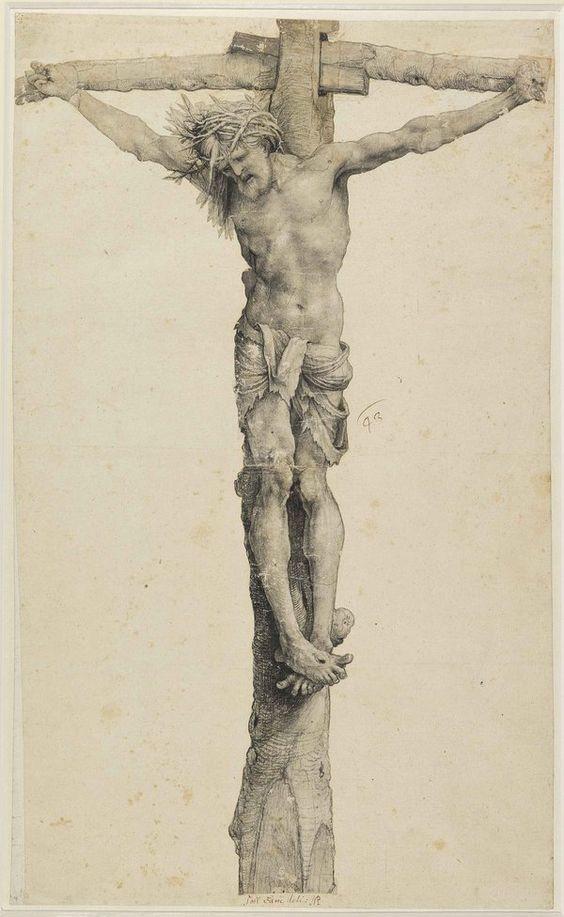 Christus am Kreuz, ca. 1520, by Matthias Grünewald