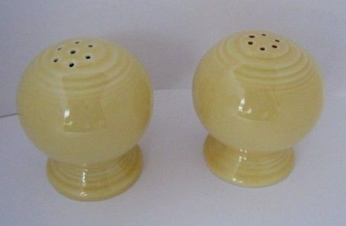 Salt & Pepper Shakers Yellow Vintage Fiesta Ware-1960s