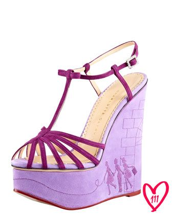 Saturday, September 22nd: Charlotte Olympia BG 111th Anniversary Embroidered Wedge Sandal, 212 872 8901