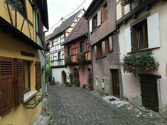 Alsacia casas calle