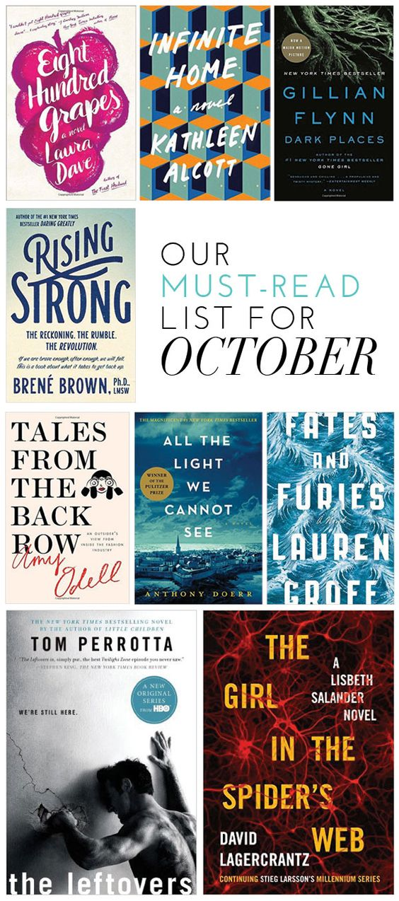 Must-read list for October