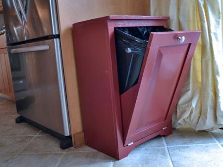 Diy wood tilt out trash or recycling cabinet all plans - Diy tilt out hamper ...