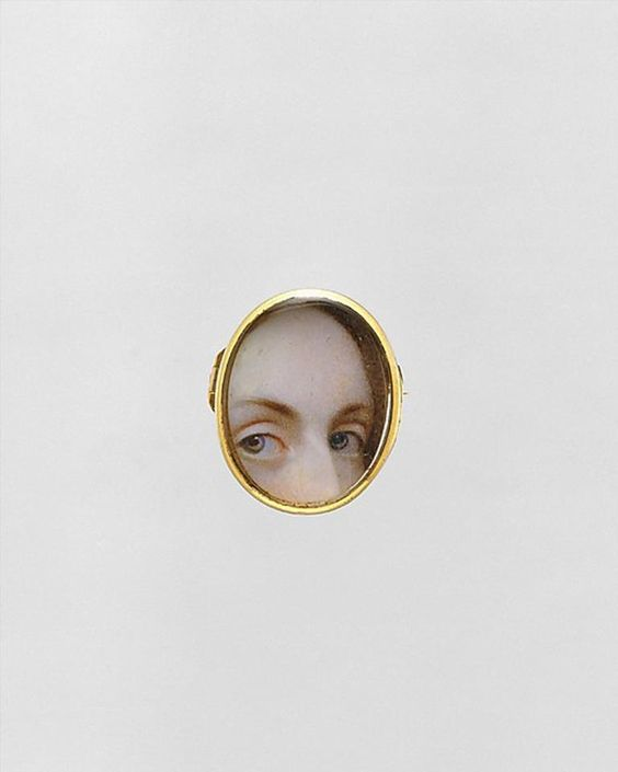eye miniature from the 18th or 19th century; 'lover's eyes'