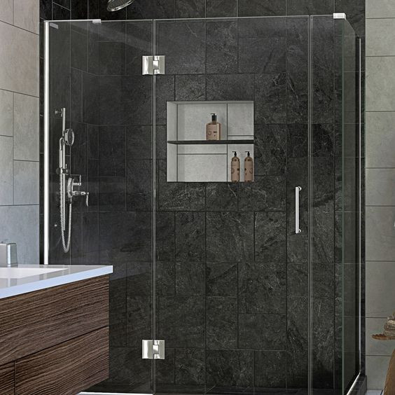 "DreamLine E32906530L-01 Unidoor-X 59.5"" W x 30.375"" D x 72"" H Shower Enclosure in Chrome"