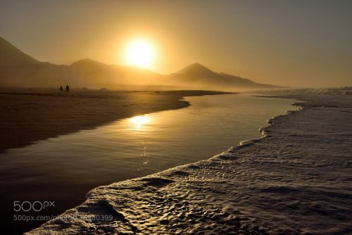 GOLD BEACH by harmony1  BEACH COFETE FUERTEVENTURA GOLD SUNSET harmony1