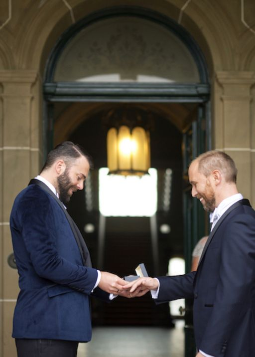 Real Wedding Ben and Chris | Real Weddings | Guides for Brides by On Three Photography