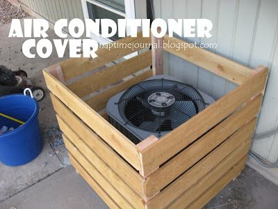 On the side air conditioner cover and my house on pinterest - Air conditioner cover ideas ...