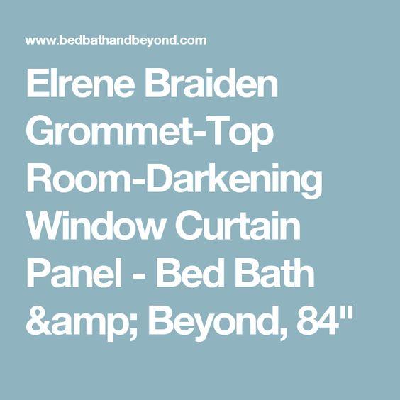 Elrene Braiden Grommet-Top Room-Darkening Window Curtain Panel ...