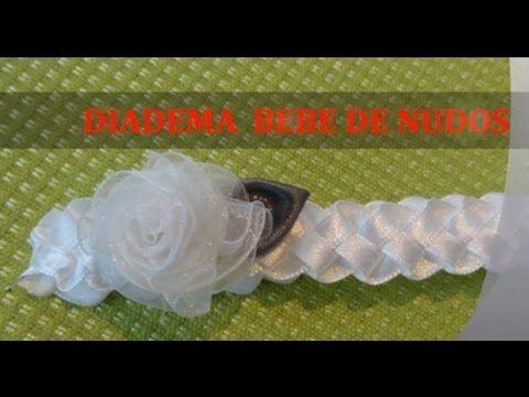 diadema tejida para bebe cuero cordones lazos cola de ratn bies pinterest bebe and youtube
