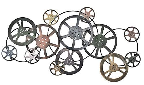 Bellaa 21833 Hollywood Movie Reel Metal Wall Art Film Dec Https Www Amazon Com Dp B076hmvrg8 Ref C Abstract Metal Wall Art Movie Reel Wall Art Metal Walls