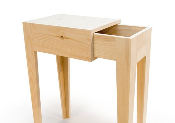"""Oboiler Side Table - Simple Series 30"""" tall x 12.25"""" x 20"""" to 30"""" long Handcrafted from 3/4"""" pine. No hardware was used in the fabrication.  The opening is adjustable to suit your liking and the entire piece is disassembled for spring cleaning.  """""""