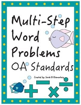 math worksheet : multi step word problems oa standards third grade free!  word  : Multiple Step Word Problems Worksheets