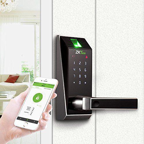 Biometric Fingerprint Keyless Electronic Door Lock Bluetooth Keypad Digital Smart Locks Home Zkteco Hotel Door Locks Biometric Door Lock Electronic Lock