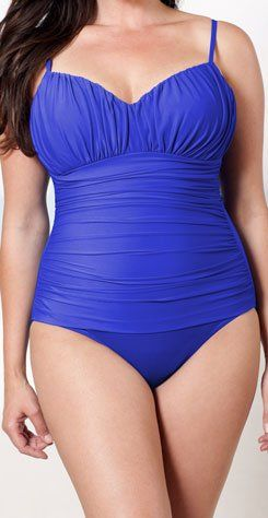 Miraclesuit Women's Solid Rialto Swimsuit Blue « Clothing Adds Anytime