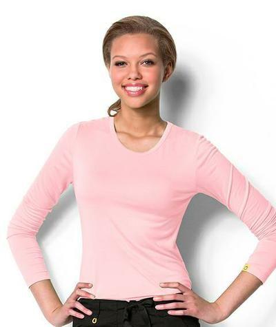 Wonderwink long sleeve undershirt Style: 2009A in light pink