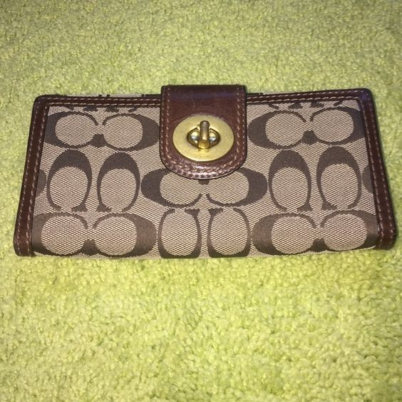 ysl gold watch - Authentic Coach Wallet | Coach Wallet, Coach Bags and Wallets