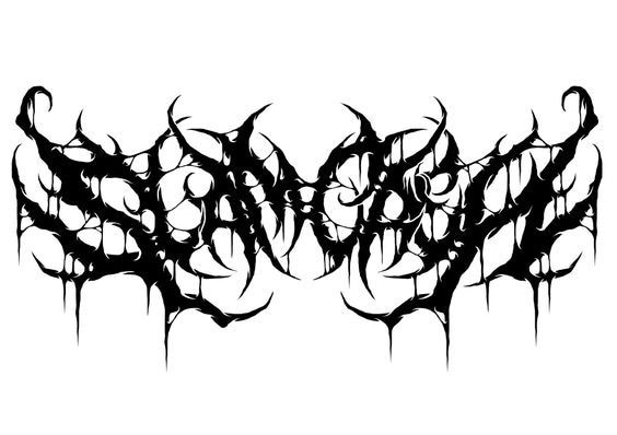 Slam Crew Christian Wulf Black Metal Art Metal Typography Band Logo Design