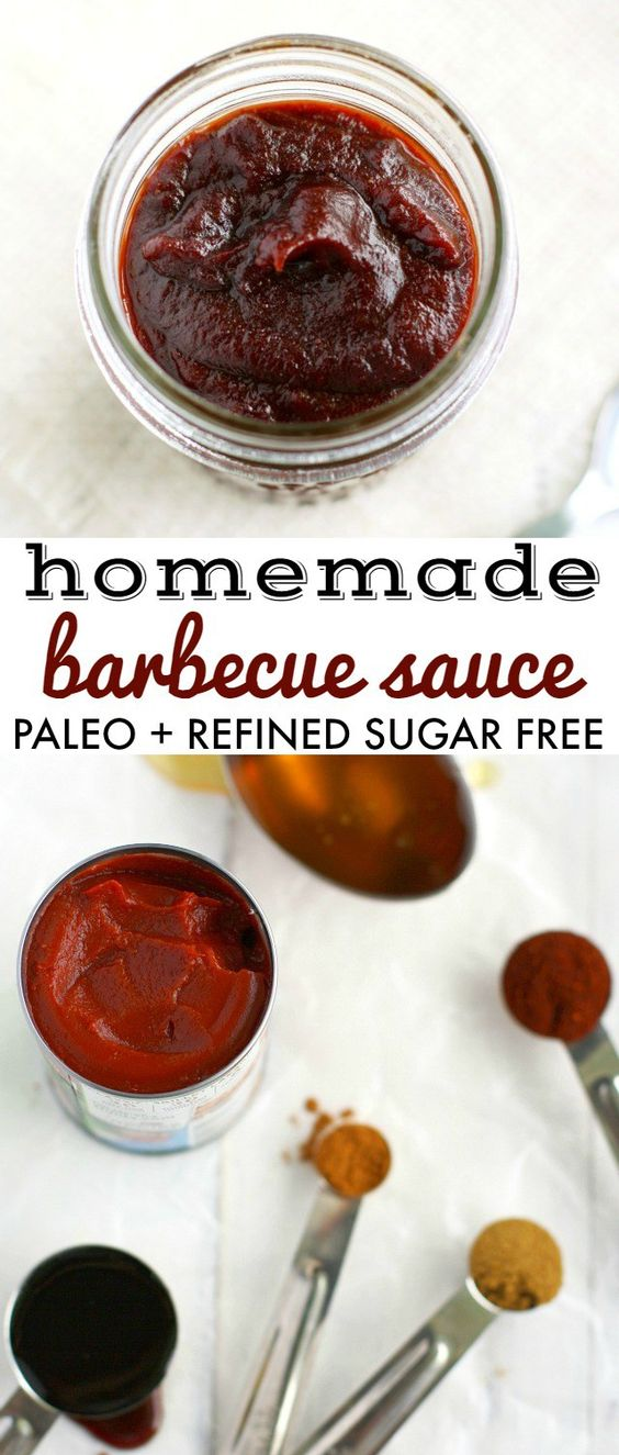 Easy and tasty homemade barbecue sauce - perfect for the summer grilling season! This simple recipe is thick, rich, sweet, and spicy, AND is paleo and refined sugar free. #barbecue