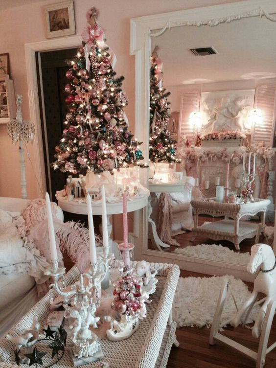 Vintage Pink Shabby Chic Living Room Merry Christmas Pinterest Shabby Chic Shabby And