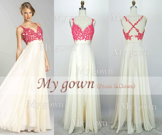 2014 Lace Prom DressStraps Beading Lace Chiffon Prom by MyGown, $179.90