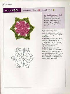 """ MOSSITA BELLA PATRONES Y GRÁFICOS CROCHET "": Hexagons Beyond the Square Crochet Motif #47-55"
