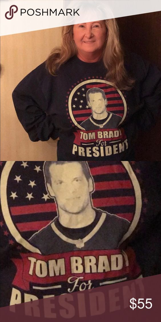 """""""TOM BRADY for President""""  tee shirt Brand New """"TOM BRADY for President""""   Navy colored Long sleeve Tee shirt!!!!  Brand new, never used, just tried on for the pic.  Collectors item for sure during this Presidential Election! Shirts Tees - Long Sleeve"""
