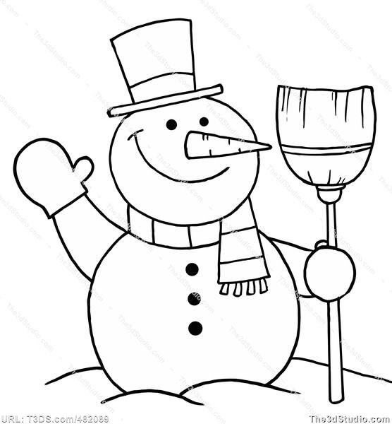 Winter Holiday Clip Art Black And White