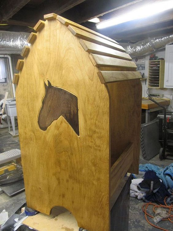 how to build a saddle stand from wood