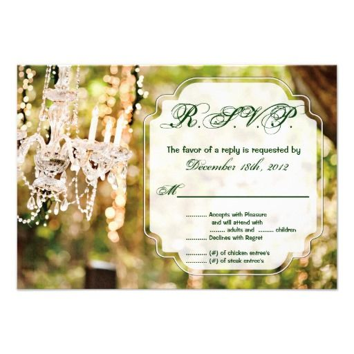 3x5 R.S.V.P. Reply Card Chandelier in Oak Tree Chi Custom Announcement