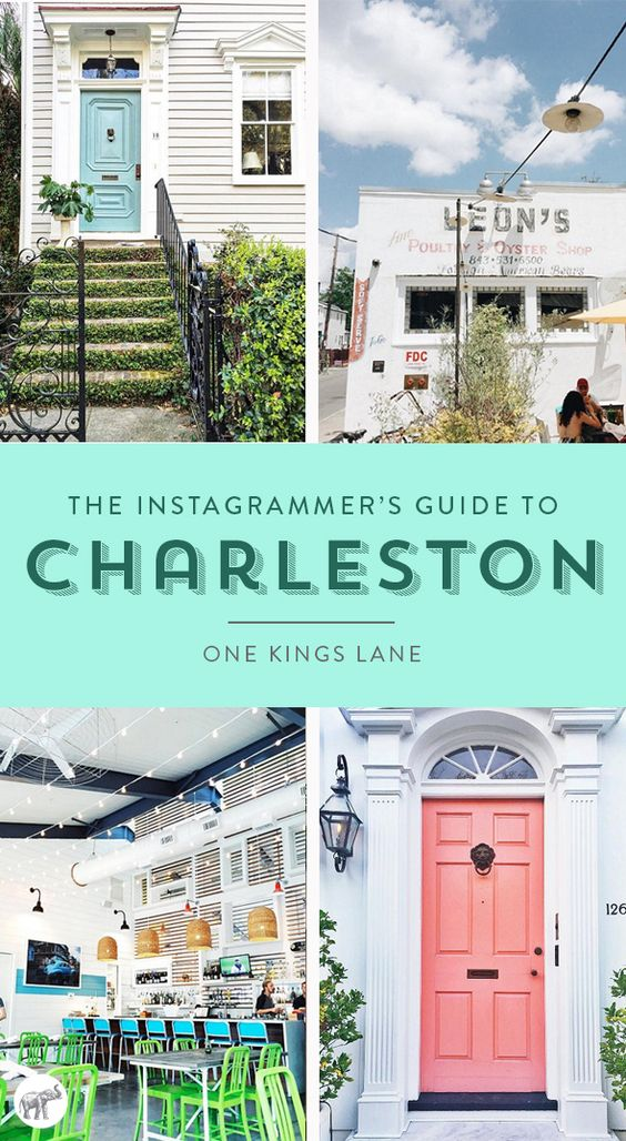 Check out the cutest places to visit in Charleston, SC right now from some of our favorite photographers, bloggers and stylists on Instagram!