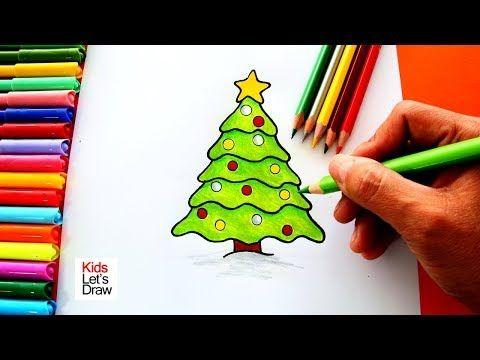 Como Dibujar Un Arbol De Navidad De Manera Facil How To Draw A Christmas Tree Dibujos De Navidad Dibujos De Navidad Faciles Arboles De Navidad Para Ninos