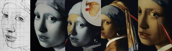 """Vermeer's Technique: Painting an Oil Copy of """"Girl with a Pearl Earring"""".... amazing for teaching students"""
