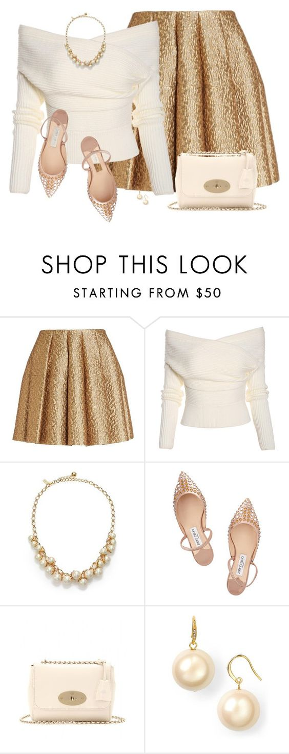 """Gold"" by daiscat ❤ liked on Polyvore featuring Creatures Of The Wind, Kate Spade, Jimmy Choo, Mulberry and Carolee LUX"