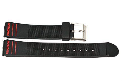 TX362931, Timex watchband, Triathlon (red), 19mm, black Women