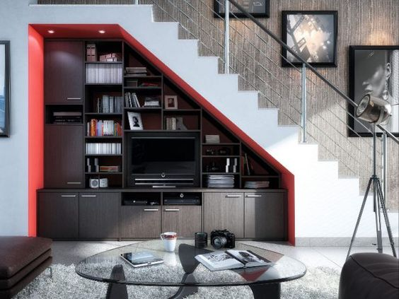 dix id es pour optimiser l 39 espace sous un escalier tvs. Black Bedroom Furniture Sets. Home Design Ideas