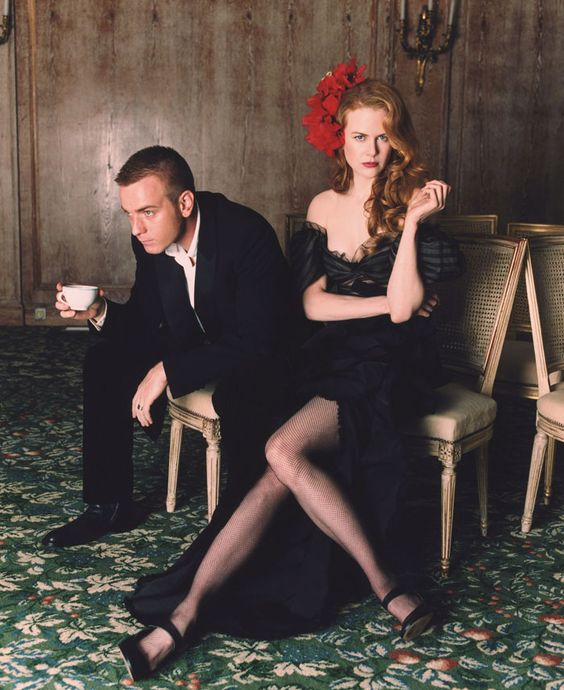the-storytime:    Nicole Kidman and Ewan McGregor by Lorenzo Agius (2001).