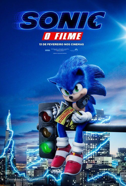 Sonic The Hedgehog 2020 Brazilian Movie Poster Sonic The Movie Sonic The Hedgehog Hedgehog Movie