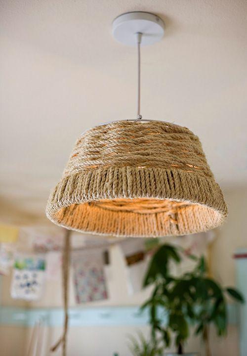 como hacer una lampara colgante tejida introd