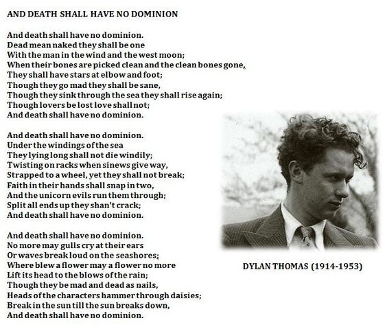 "and death shall have no dominion Start by marking ""dylan thomas reads: and death shall have no dominion/a winter's tale/on reading poetry aloud/other selections"" as want to read."
