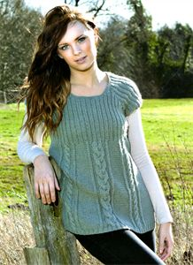 Womens Knitting Patterns Fearne Rib & Cable Tunic Pattern