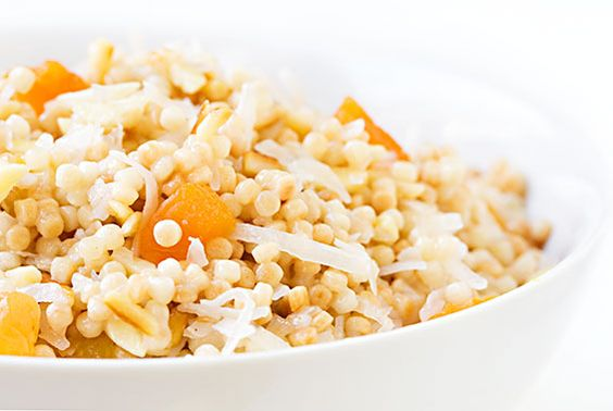 Breakfast Israeli Couscous (With Apricots, Almonds & Coconut) Recipe | gimmesomeoven.com