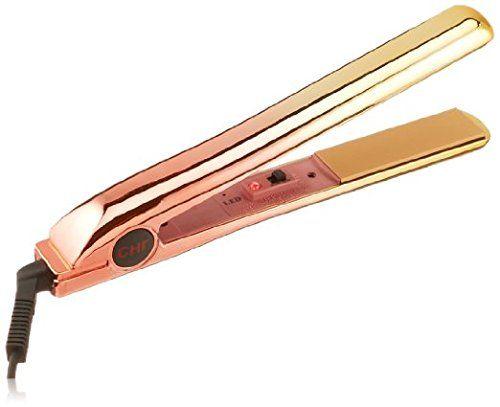 CHI PRO Ceramic Flat Iron in Ionic Tourmaline Hair Straightener, Blushing Gold