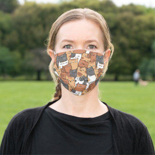 Tiger King Carole Did It Orange Stripe Baskin Cloth Face Mask Zazzle Com In 2020 Face Face Mask Mask