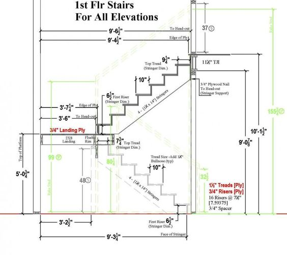 Typical residential stair plan drawing google search for Plan of a residential building drawings