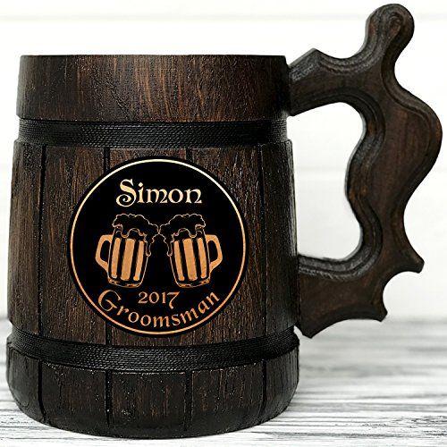 Personalized Wooden Beer Mug Personalized Best Man Gift Groomsmen Gift Wedding Gift Wood Beer Mug Engraved Beer Mug Personal Gifts K61,Kitchen Light Fixtures Led